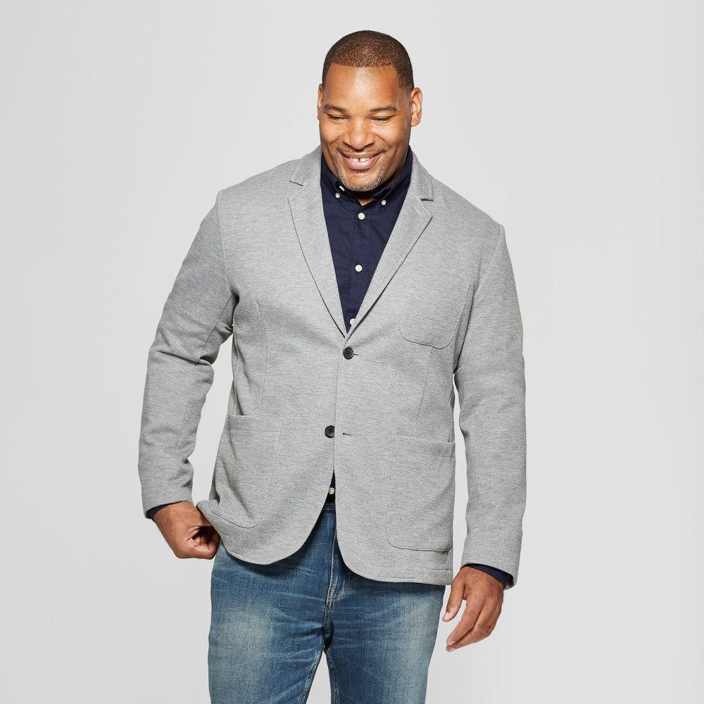 グッドフェロー Goodfellow & Co メンズ スーツ・ジャケット 大きいサイズ アウター【Big & Tall Knit Blazer -】Heather Gray