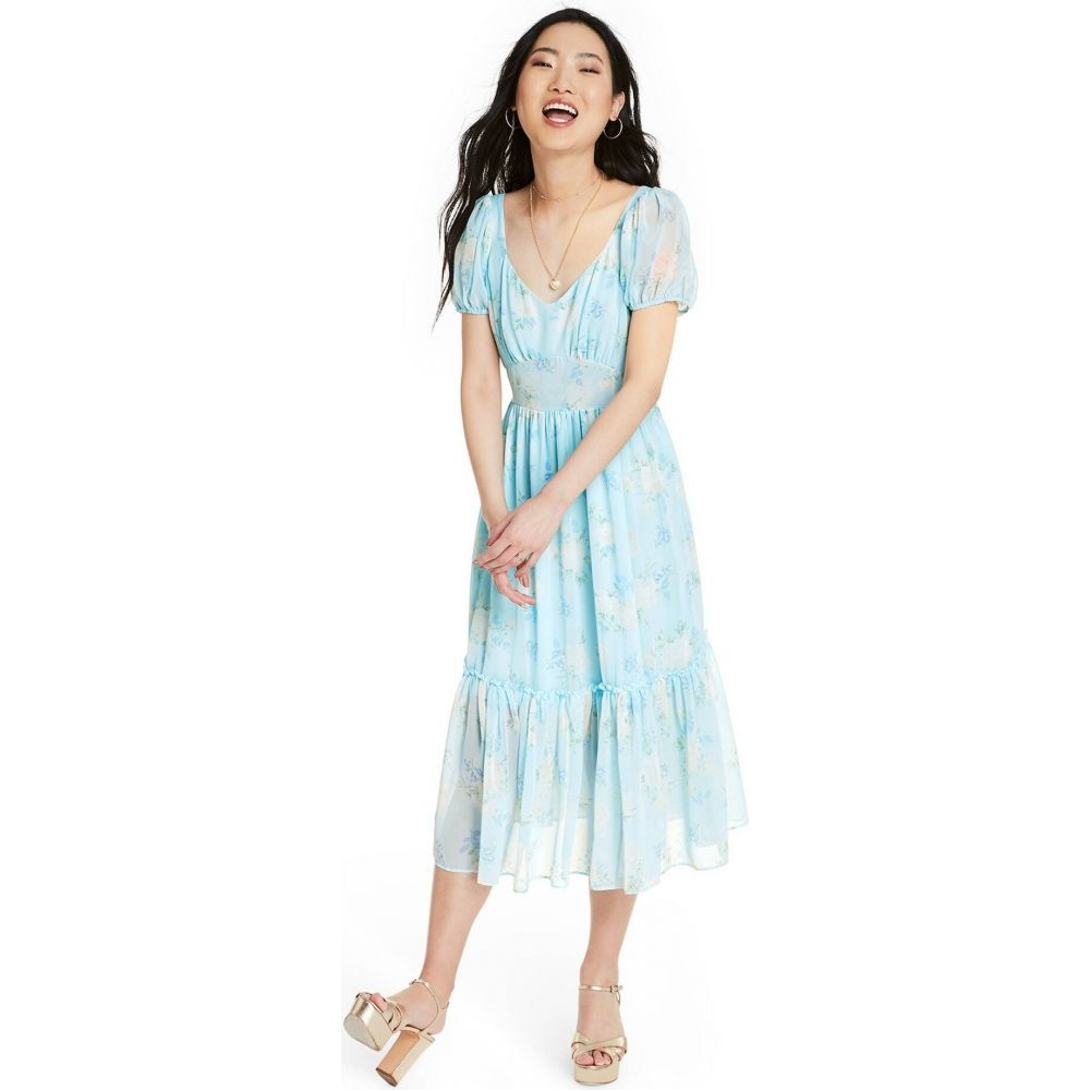 ターゲット LoveShackFancy for Target レディース ワンピース ワンピース・ドレス【Sophie Chiffon Dress - (Regular & Plus) Blue】