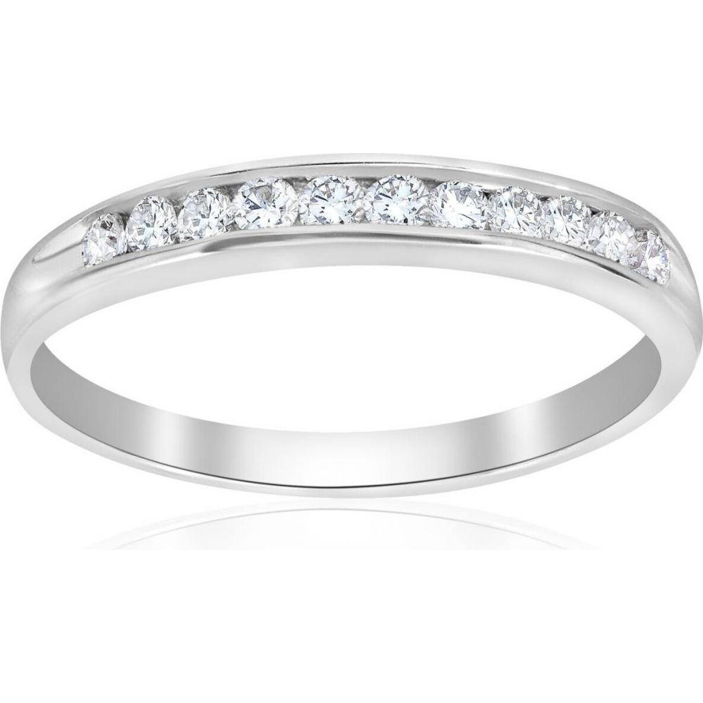 ポンペイ Pompeii3 レディース 指輪・リング ジュエリー・アクセサリー【Platinum 1/4Ct Diamond Lab Created Wedding Channel Set Ring】