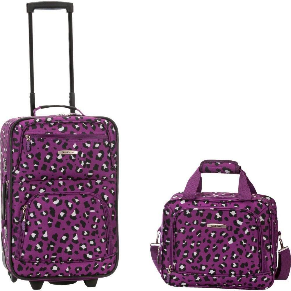 ロックランド Rockland メンズ スーツケース・キャリーバッグ バッグ【Rio 2pc Carry On Luggage Set】Purple Cheetah Print