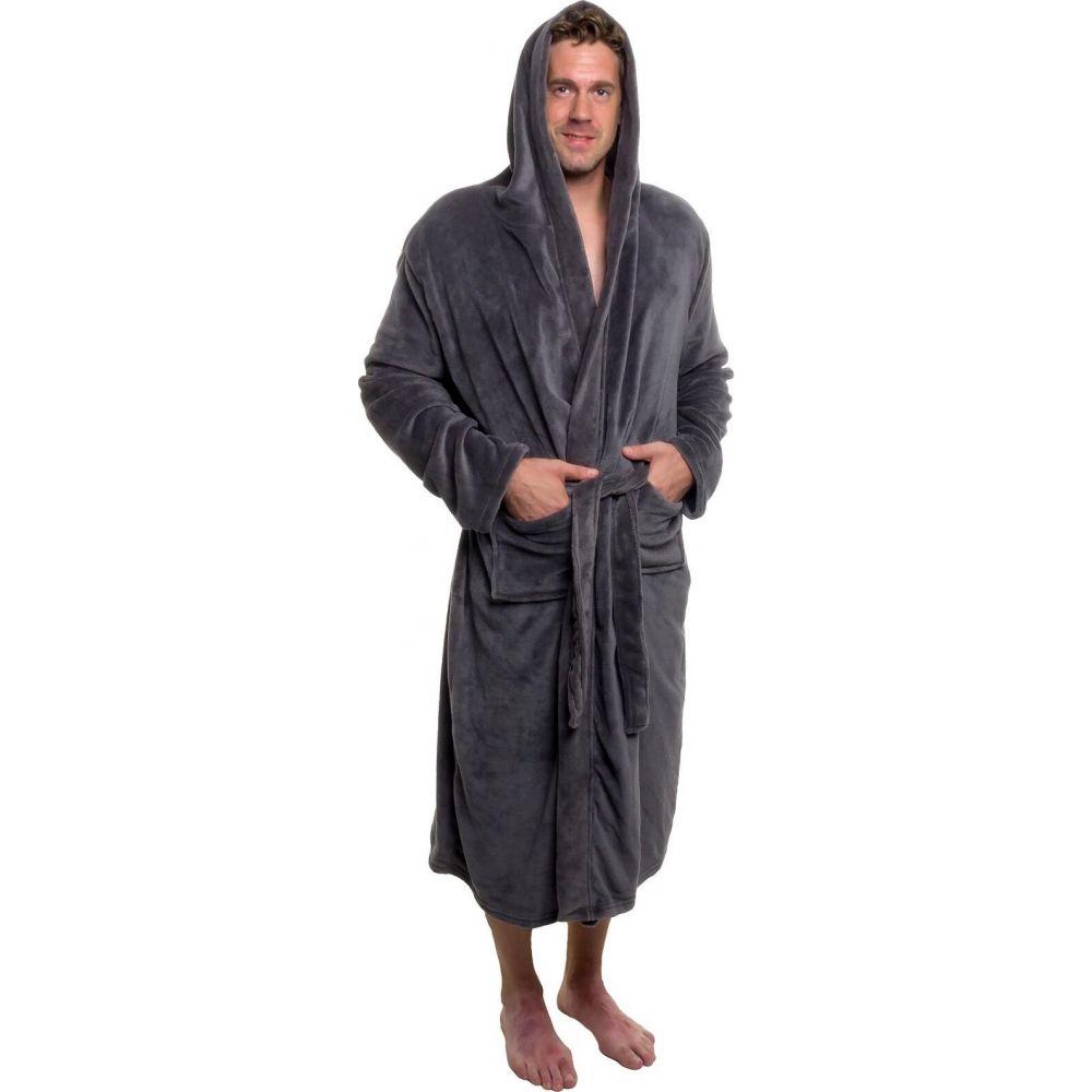 ロスマイケル メンズ インナー・下着 ガウン・バスローブ grey 【サイズ交換無料】 ロスマイケル Ross Michaels メンズ ガウン・バスローブ バスローブ インナー・下着【Plush Luxury Hooded Bathrobe】grey