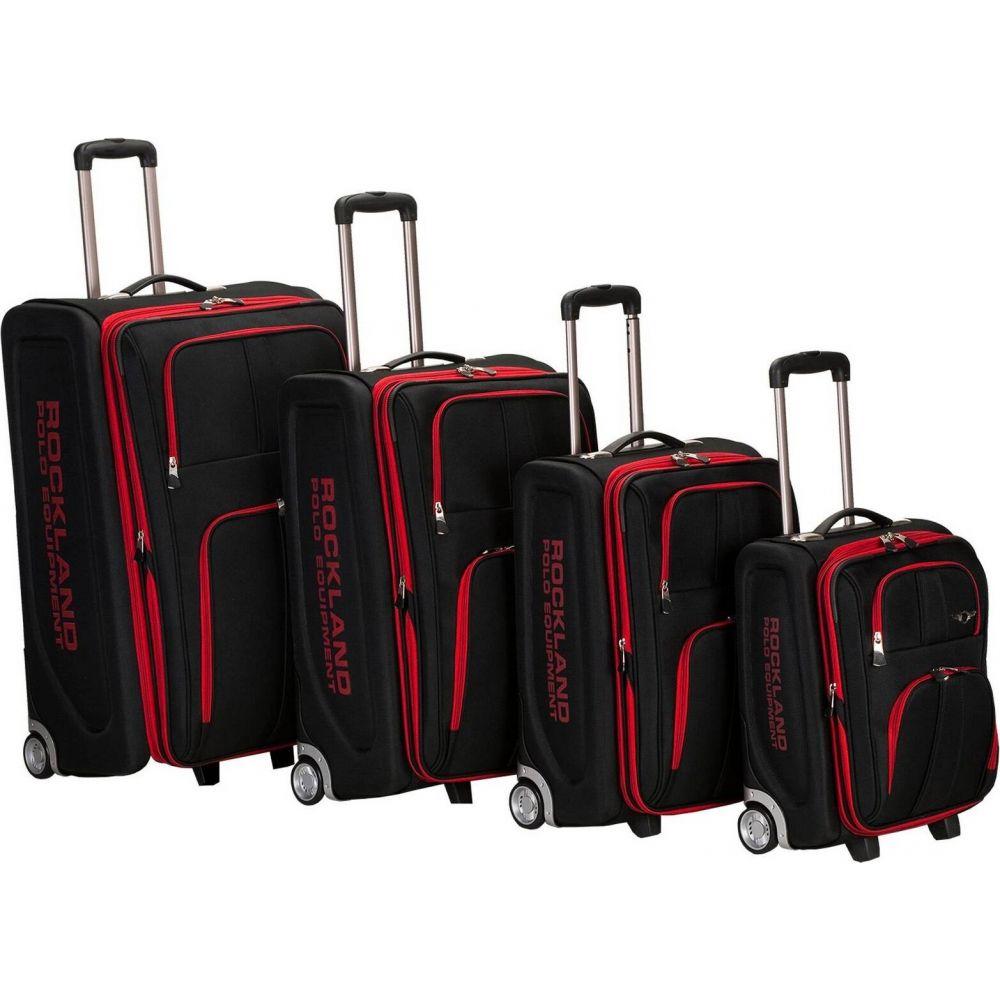 ロックランド Rockland メンズ スーツケース・キャリーバッグ バッグ【Varsity Polo Equipment 4pc Luggage Set】Black