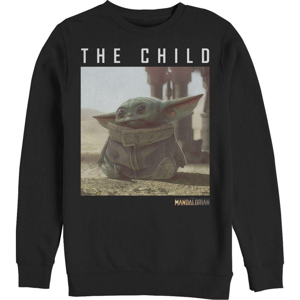 フィフス サン Fifth Sun メンズ スウェット・トレーナー トップス【Star Wars The Mandalorian The Child Frame Sweatshirt】black