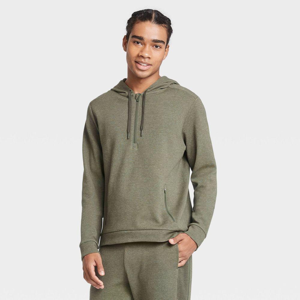 オールインモーション All in Motion メンズ フリース トップス【Premium Fleece 1/4 Zip Hoodie -】Olive Green
