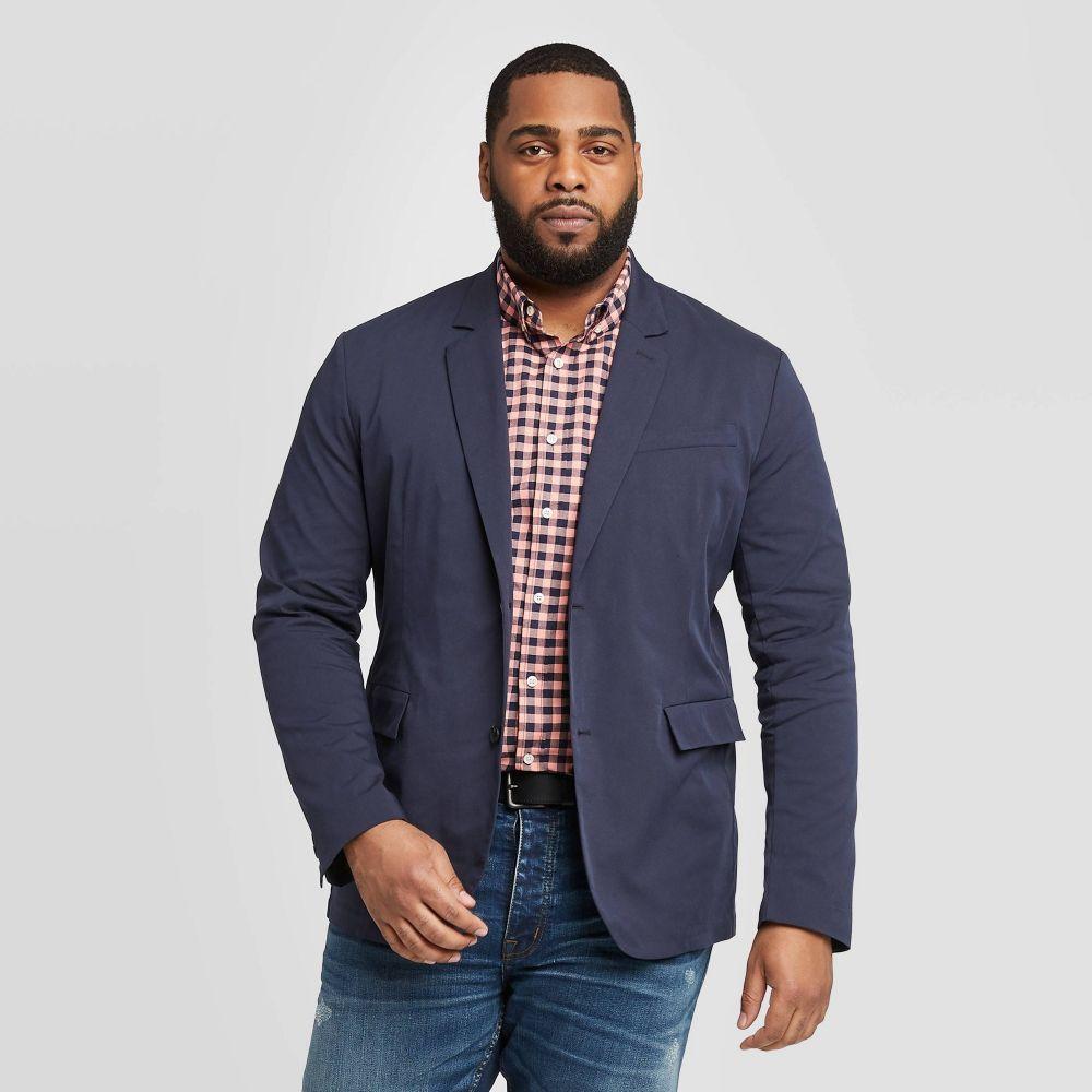 グッドフェロー Goodfellow & Co メンズ スーツ・ジャケット 大きいサイズ アウター【Big & Tall Standard Fit Chino Tech Blazer - Midnight Blue】