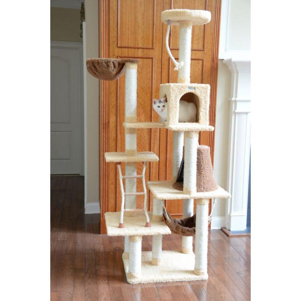祝日 アーマーカット Armarkat ペットグッズ 猫用品 Premium 迅速な対応で商品をお届け致します Cat X7805 78in Goldenrod Model Tree Tan