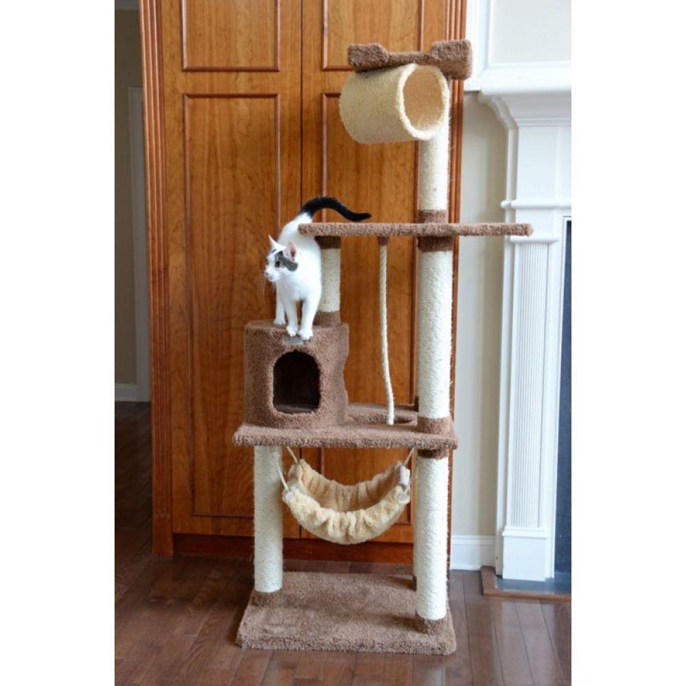 アーマーカット 即納最大半額 Armarkat ペットグッズ 猫用品 Premium Cat 割り引き Tree Tan X7001 70in Model