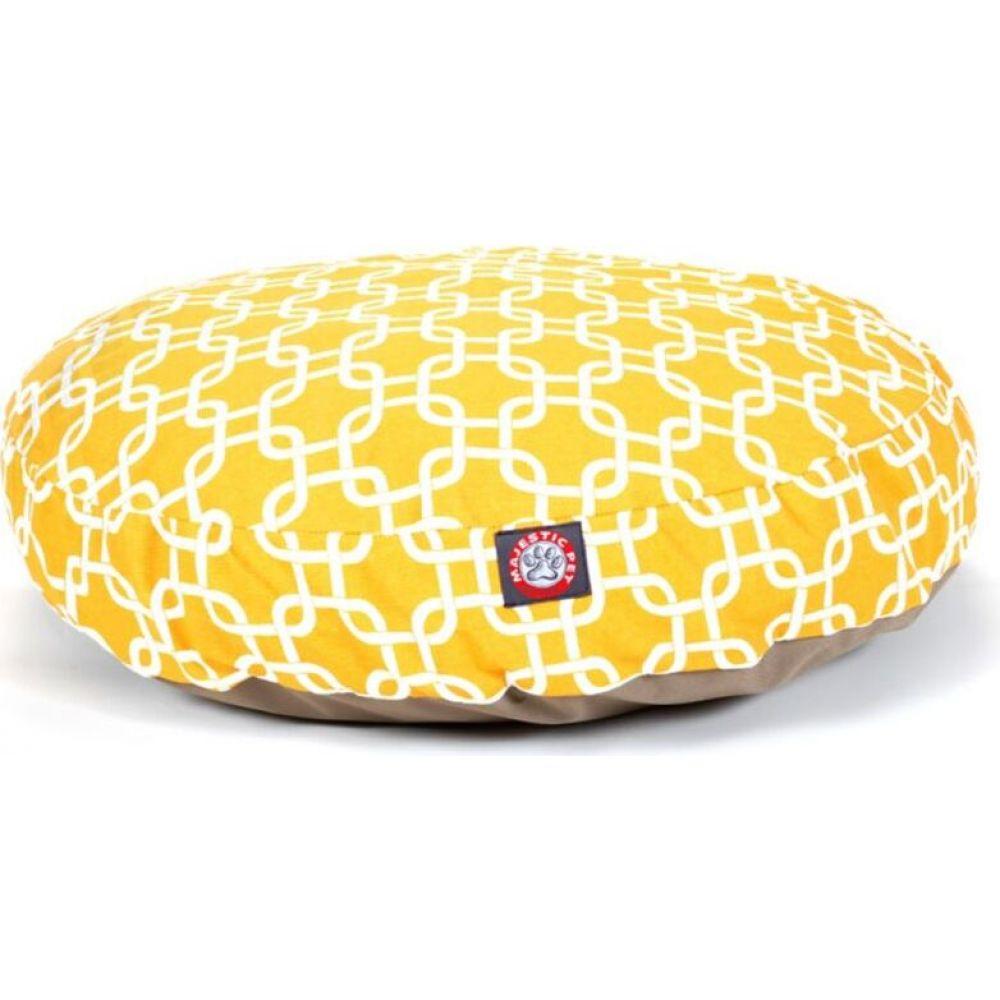 マジェスティック Majestic ペットグッズ 犬用品 ベッド マット カバー 在庫限り Round Pet Links Bed Outdoor 商品追加値下げ在庫復活 Yellow