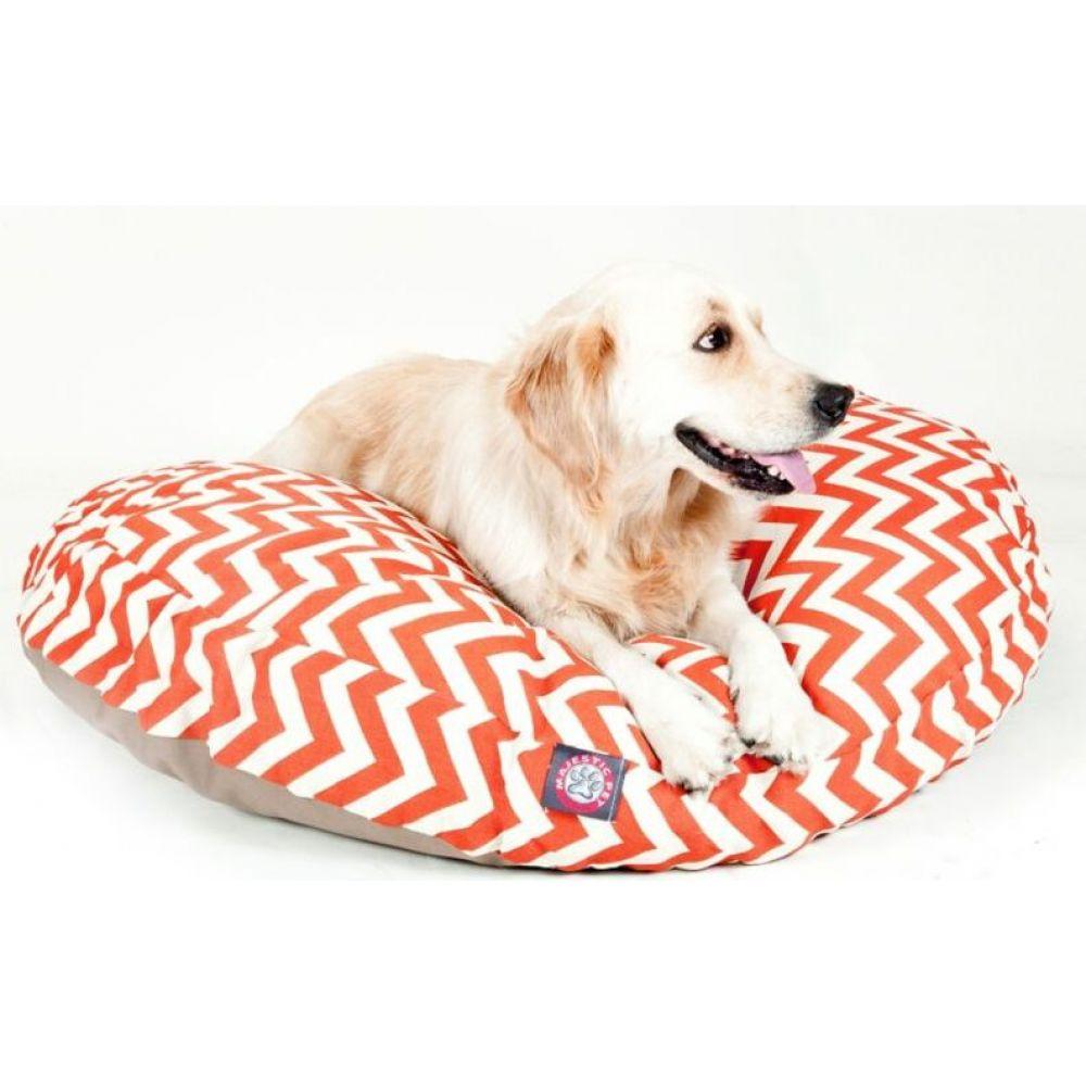 マジェスティック Majestic 超安い ペットグッズ 犬用品 ベッド マット カバー Round Outdoor Chevron Pet 大人気 Bed Orange