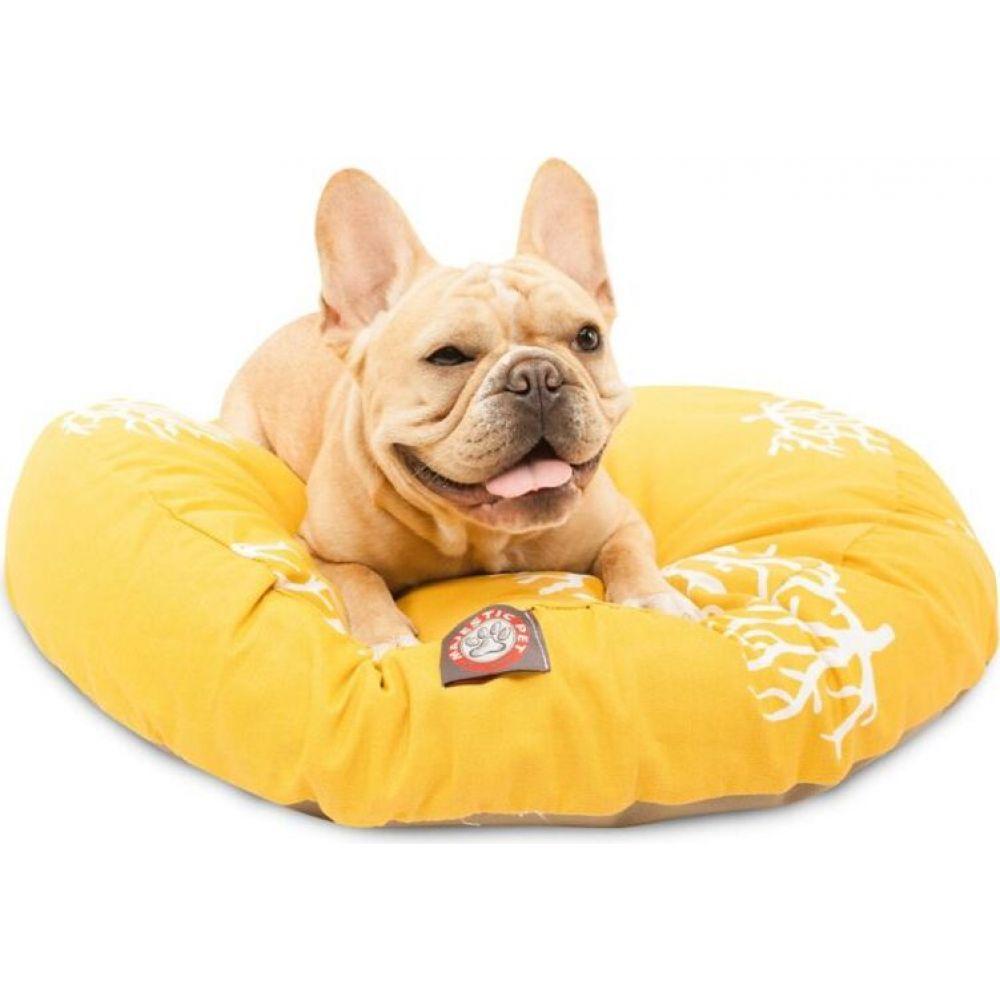 マジェスティック Majestic 低廉 ペットグッズ 犬用品 ベッド マット カバー 驚きの価格が実現 Pet Yellow Bed Outdoor Round Coral