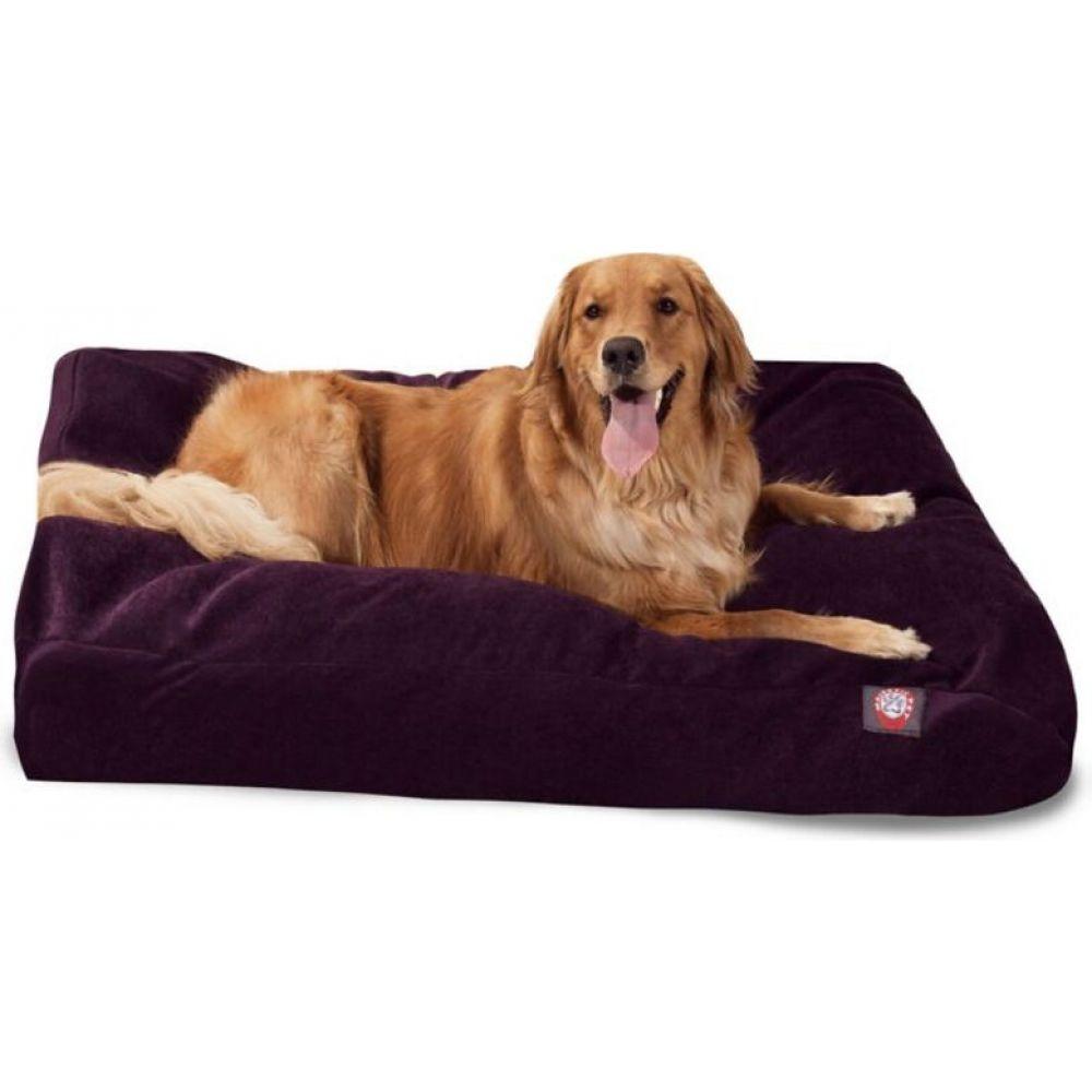マジェスティック Majestic ペットグッズ 犬用品 ベッド マット Bed Pet 蔵 カバー Rectangle 男女兼用 Aubergine