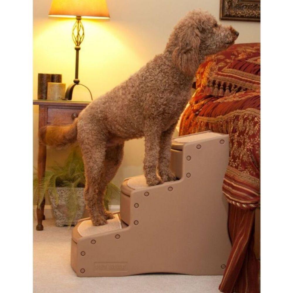 お洒落 ペットギア ショッピング Pet Gear ペットグッズ 犬用品 Brown Extra-Wide lll Steps Easy