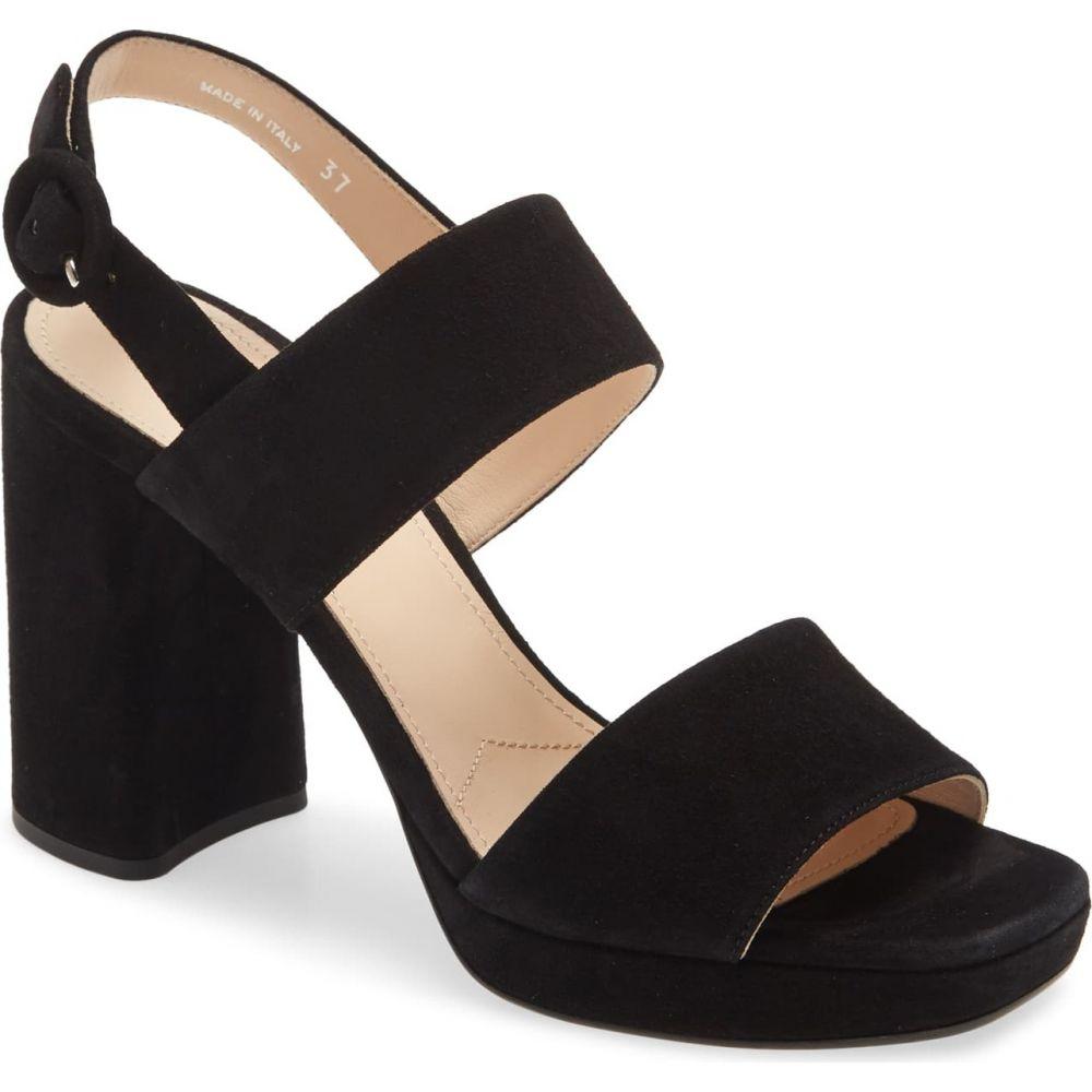 Sandal】Black レディース シューズ・靴【Block Suede サンダル・ミュール PRADA Heel プラダ