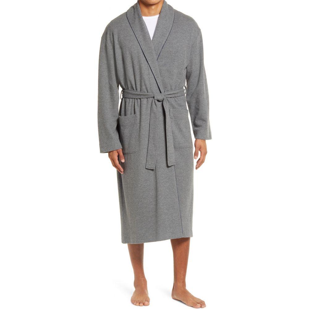 マジェスティック メンズ インナー・下着 ガウン・バスローブ Charcoal マジェスティック MAJESTIC INTERNATIONAL メンズ ガウン・バスローブ インナー・下着【Knit Cotton Blend Robe】Charcoal