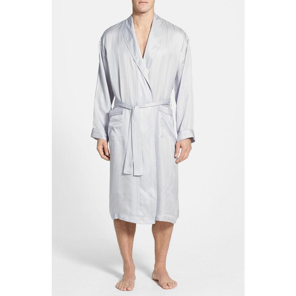 マジェスティック メンズ インナー・下着 ガウン・バスローブ Night マジェスティック MAJESTIC INTERNATIONAL メンズ ガウン・バスローブ インナー・下着【Herringbone Stripe Silk Robe】Night