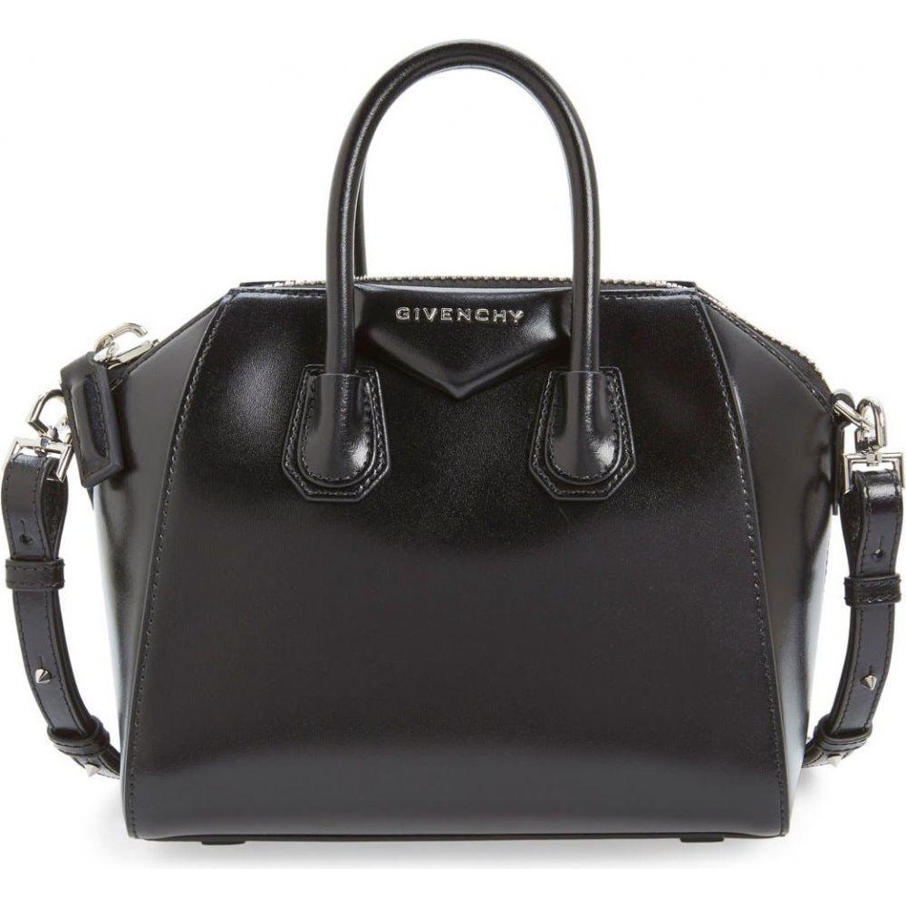 ジバンシー レディース バッグ 再販ご予約限定送料無料 ハンドバッグ Black サイズ交換無料 GIVENCHY サッチェルバッグ Satchel Leather Box 'Mini Antigona' 中古