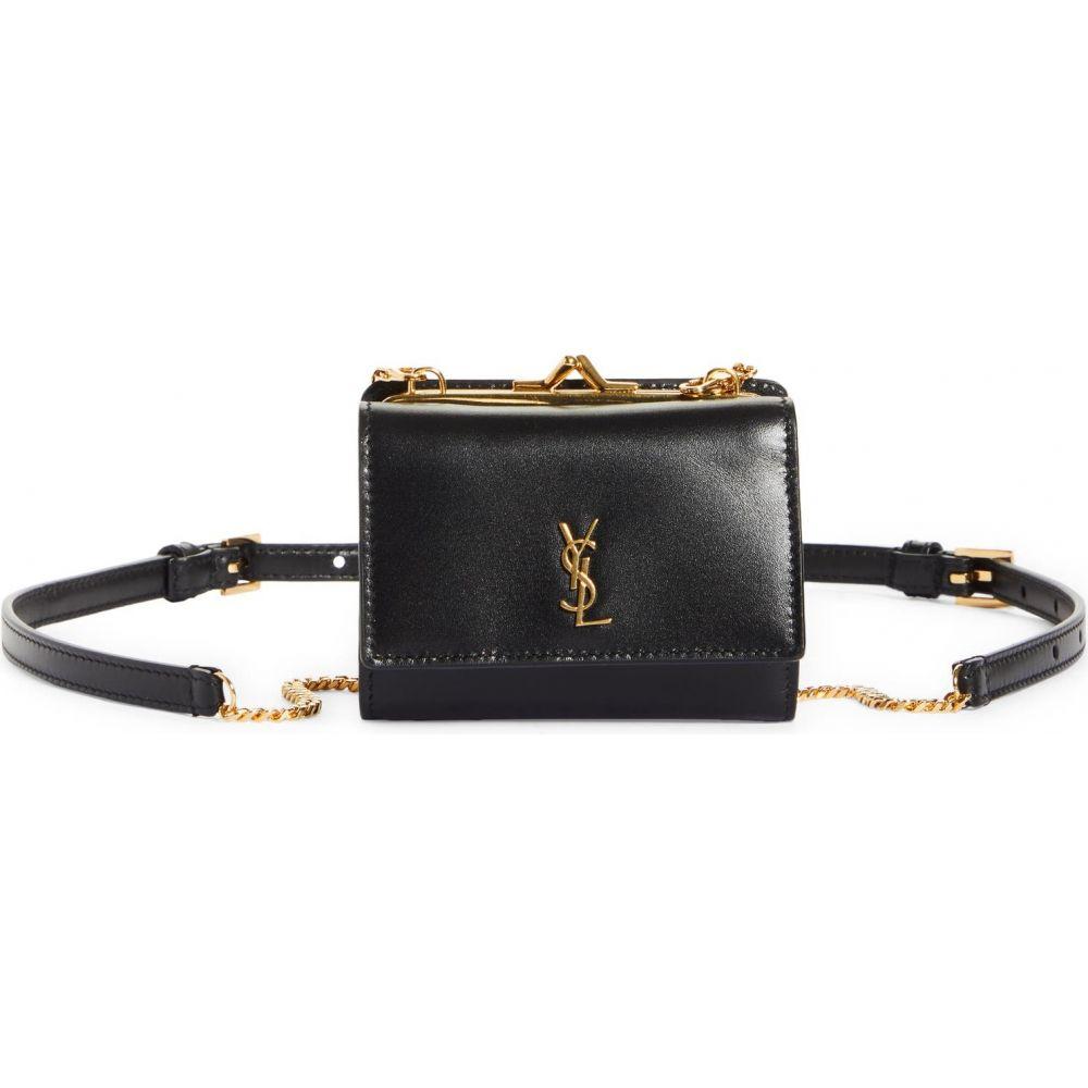 イヴ サンローラン レディース オンラインショップ バッグ ボディバッグ ウエストポーチ Nero LAURENT サイズ交換無料 Bag Calfskin SAINT Belt 再再販 Leather