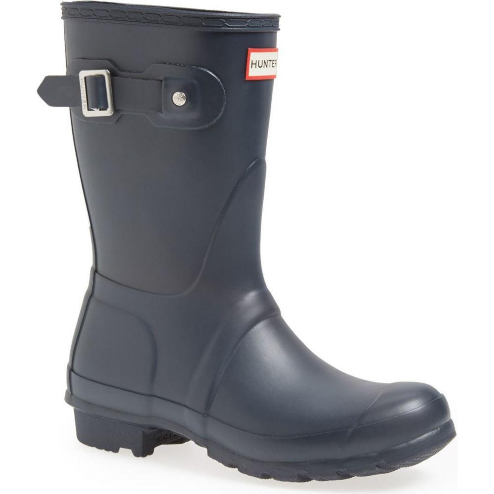 ハンター レディース シューズ 靴 レインシューズ 長靴 Navy Matte HUNTER Short Original Waterproof サイズ交換無料 Boot 人気 人気ブランド多数対象 おすすめ Rain