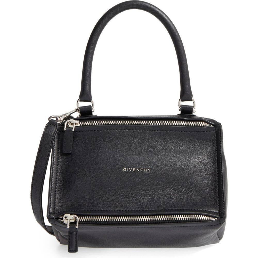 ジバンシー レディース 高級な バッグ ハンドバッグ Black サイズ交換無料 Satchel 予約 サッチェルバッグ GIVENCHY Small Pandora Leather