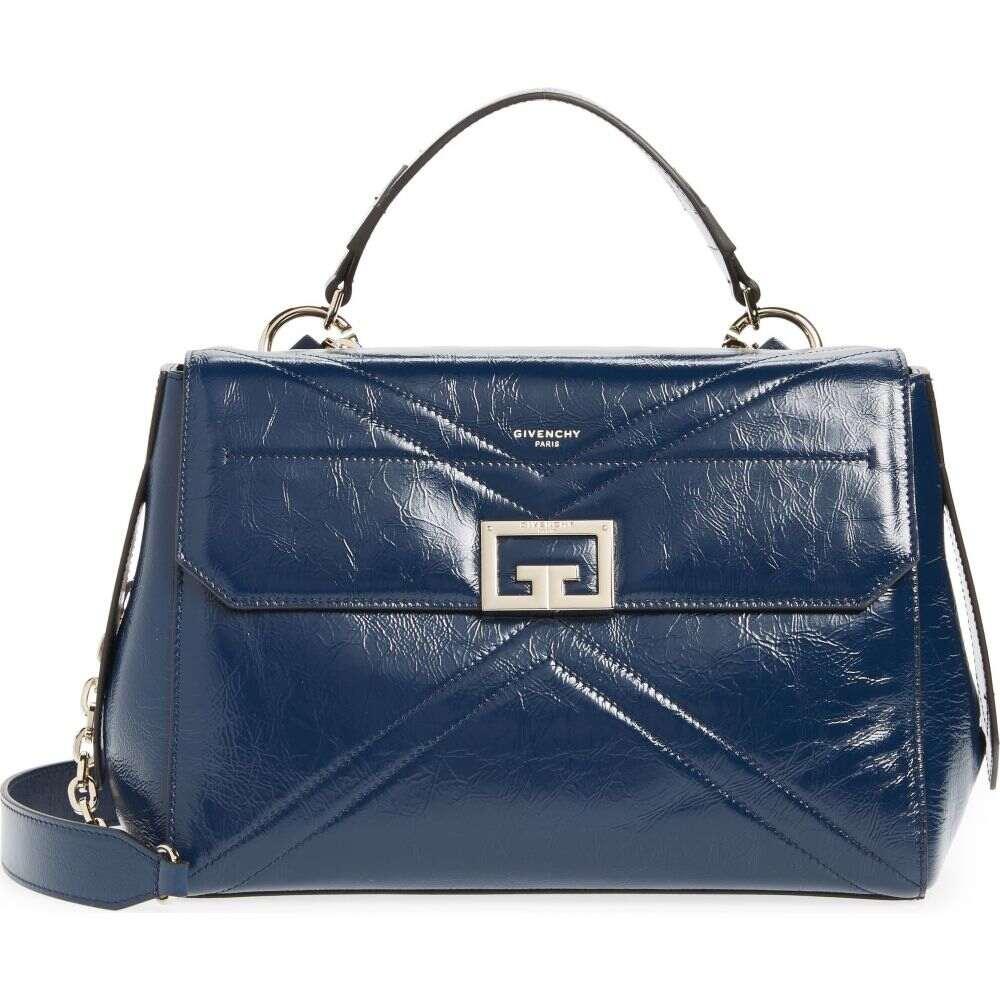 ジバンシー レディース バッグ ハンドバッグ Midnight 休み Blue サイズ交換無料 GIVENCHY Top Medium Leather Bag ランキング総合1位 Handle ID Aged
