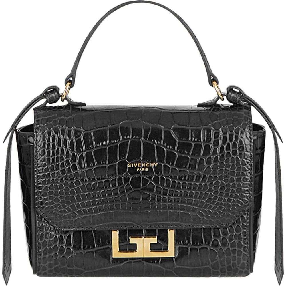 ジバンシー テレビで話題 レディース バッグ ハンドバッグ Black サイズ交換無料 GIVENCHY Mini Handle オンラインショップ Croc Top Leather Bag Eden Embossed