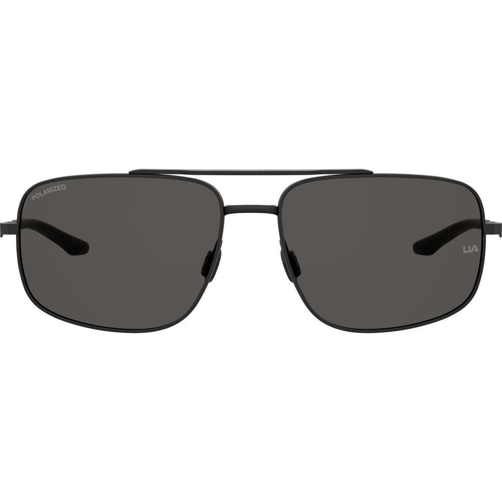 アンダーアーマー UNDER ARMOUR ユニセックス メガネ・サングラス アビエイター【59mm Polarized Aviator Sunglasses】Matte Black