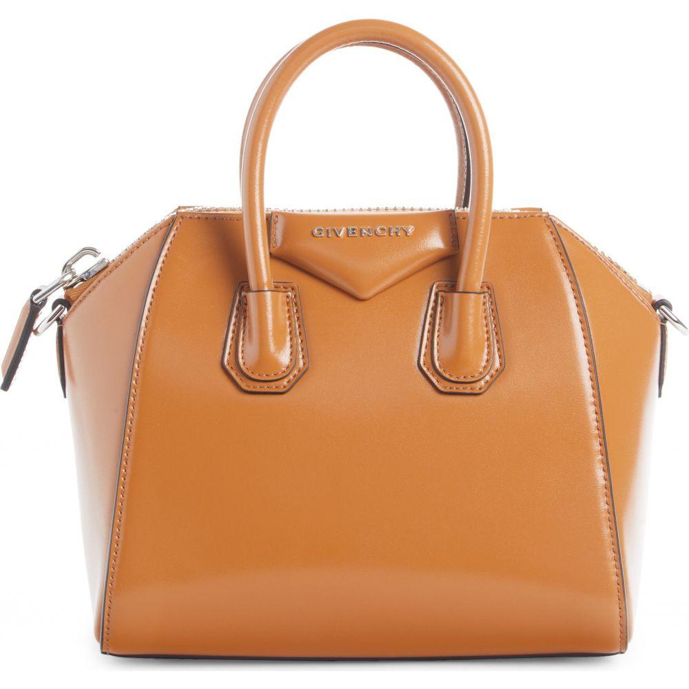 ジバンシー 激安超特価 レディース バッグ ハンドバッグ Tan 数量限定 サイズ交換無料 GIVENCHY Leather 'Mini Antigona' Box サッチェルバッグ Satchel
