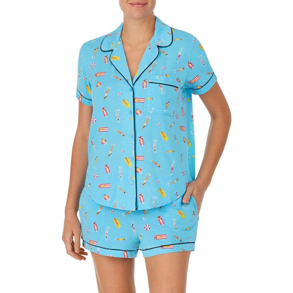 ケイト スペード KATE SPADE NEW YORK レディース パジャマ・上下セット ボクサー インナー・下着【print boxer short pajamas】Aqua