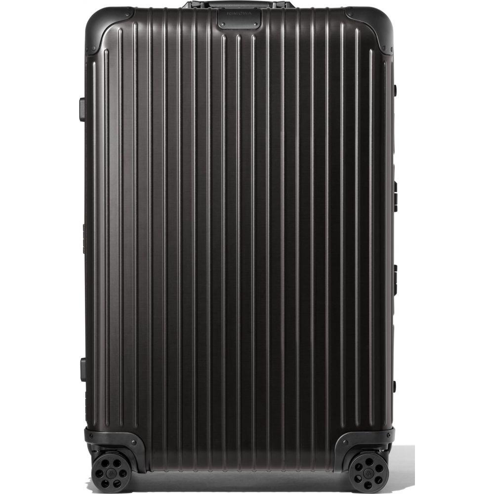 日本 リモワ ユニセックス バッグ スーツケース 2020 新作 キャリーバッグ Black サイズ交換無料 31-Inch RIMOWA Large Wheeled Check-In Suitcase Original