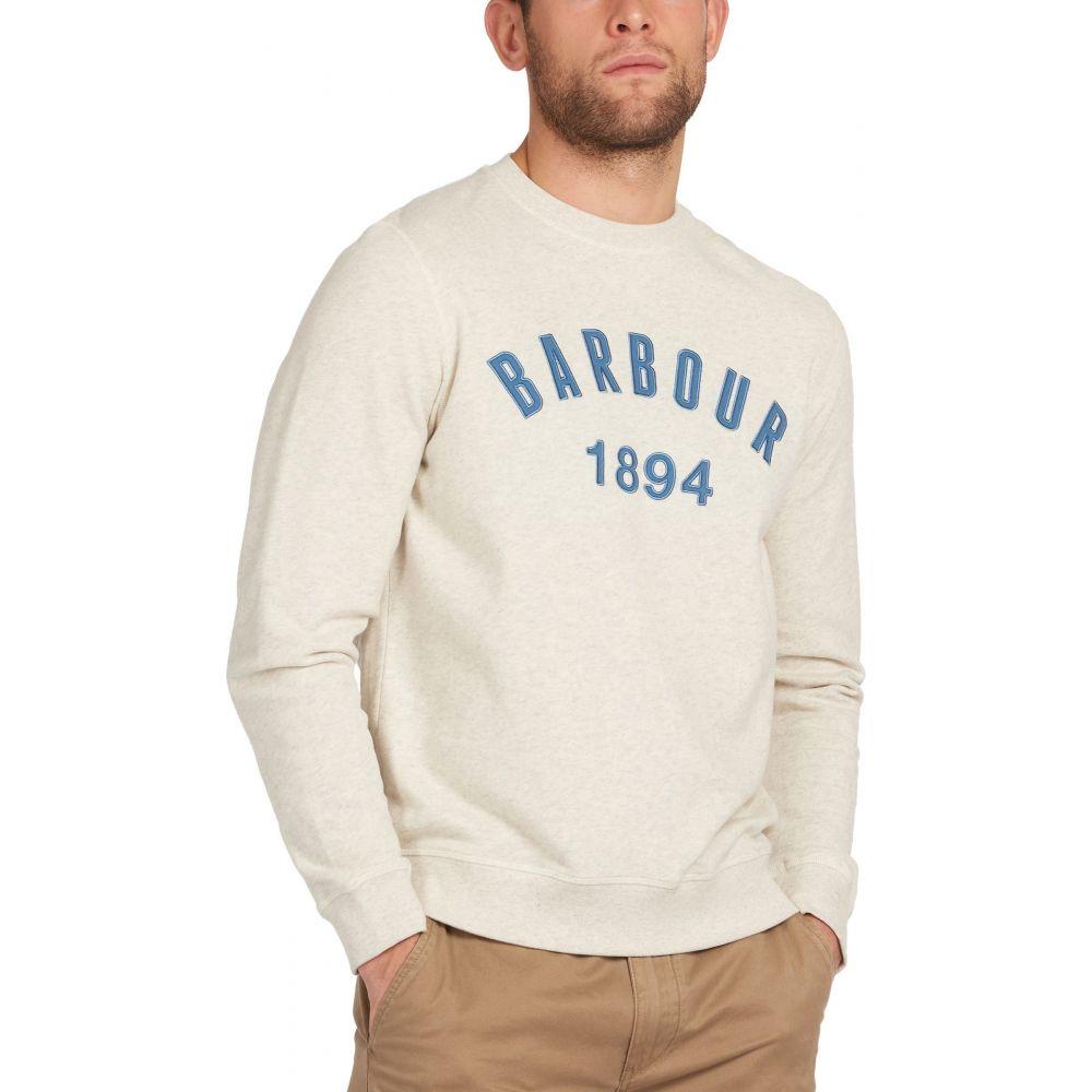 バブアー BARBOUR メンズ ニット・セーター トップス【John Logo Applique Crewneck Sweater】Ecru