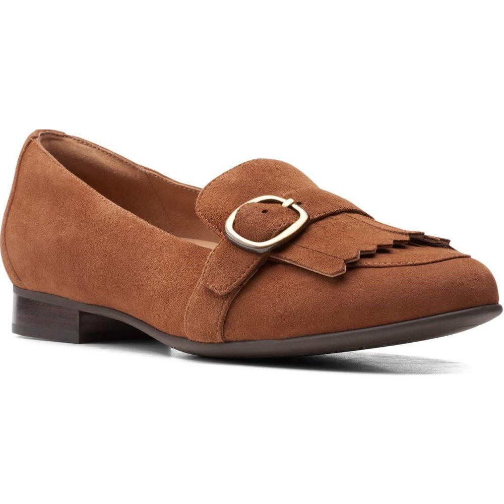 クラークス レディース シューズ 靴 年末年始大決算 スリッポン フラット Tan Fame Blush Un サイズ交換無料 CLARKS Flat いよいよ人気ブランド Suede