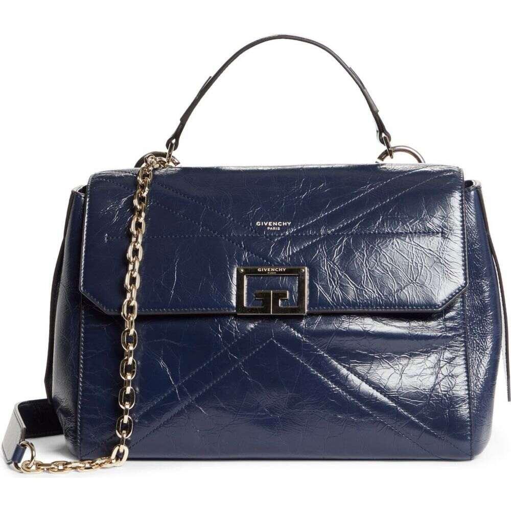 特価品コーナー☆ ジバンシー レディース バッグ ハンドバッグ Navy サイズ交換無料 GIVENCHY Leather Top Handle Medium ID Aged Bag 日本最大級の品揃え