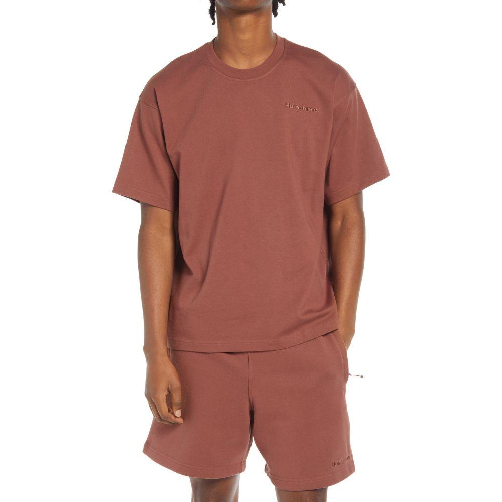 アディダス メンズ トップス Tシャツ Earth Brown サイズ交換無料 ADIDAS 通販 期間限定の激安セール 激安 ORIGINALS Pharrell Williams T-Shirt Unisex Basics x