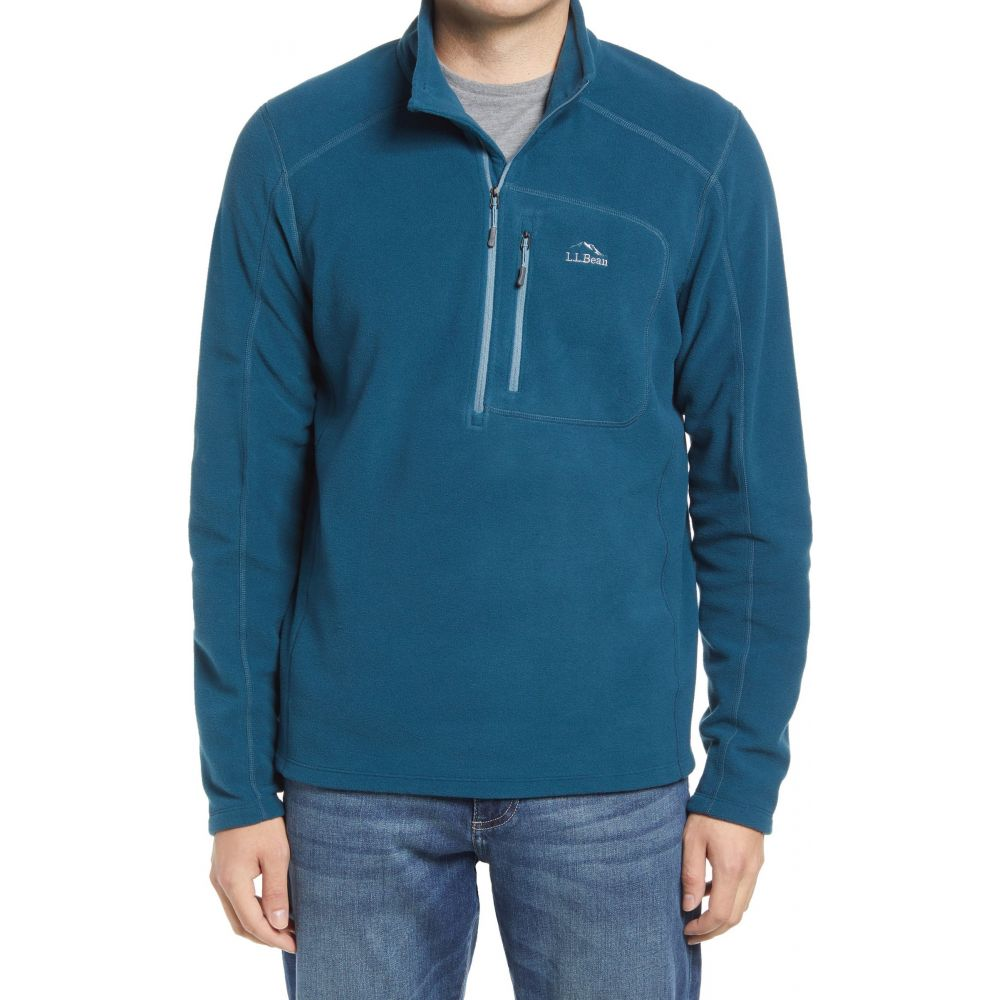 エルエルビーン メンズ トップス フリース Deep Admiral Blue 最新 Slate Pullover Fleece L.L.BEAN Quarter サイズ交換無料 Trail 祝開店大放出セール開催中 Zip