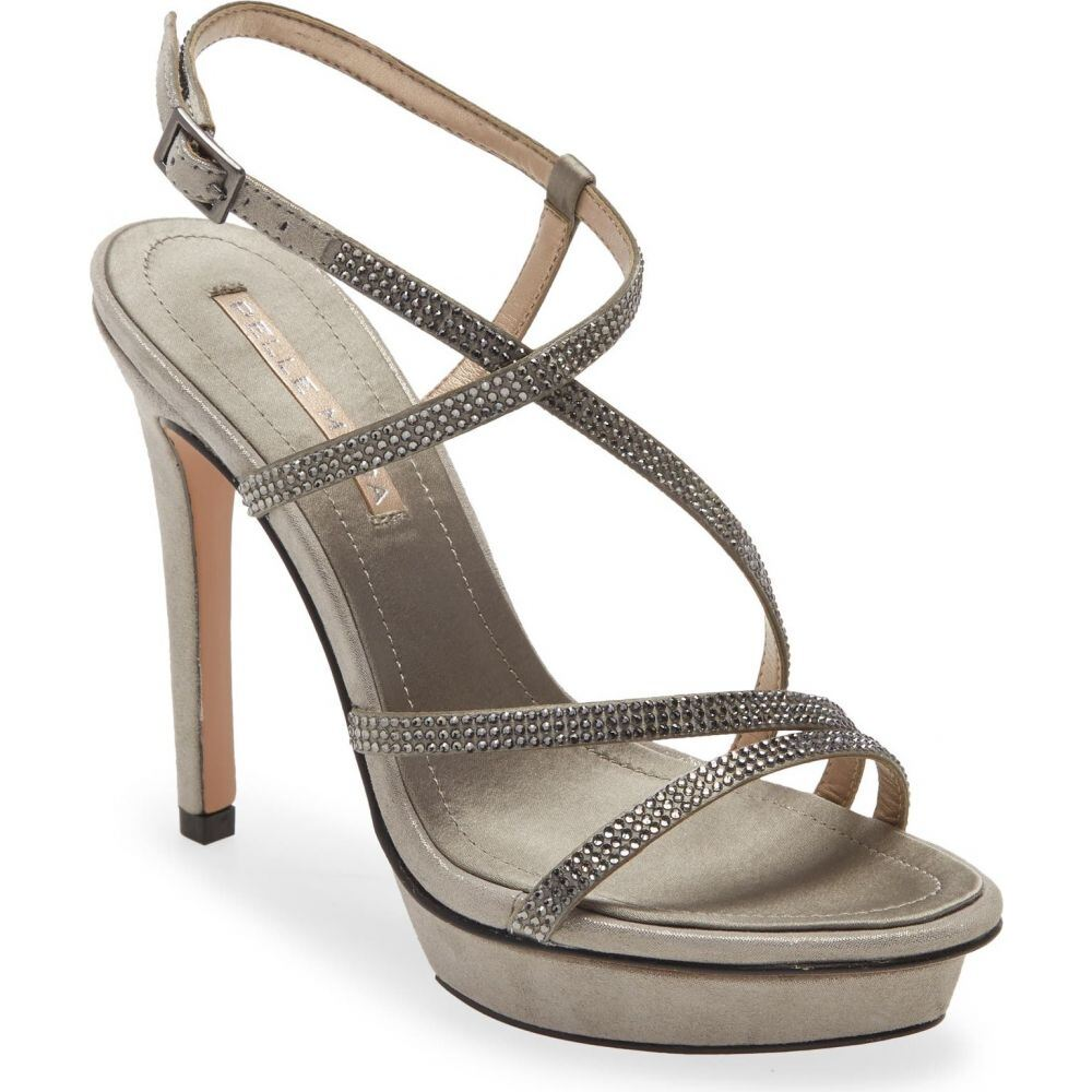 ペレ モーダ AL完売しました レディース シューズ 即日出荷 靴 サンダル ミュール Pewter PELLE Shimmer MODA Suede Sandal Olya サイズ交換無料