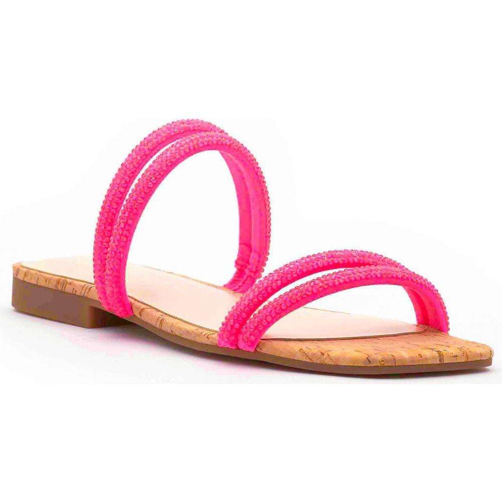 ジェシカシンプソン レディース シューズ 靴 サンダル ミュール Neon チープ Pink セール商品 サイズ交換無料 2 シャワーサンダル Sandal SIMPSON Slide Embellished Raexe JESSICA