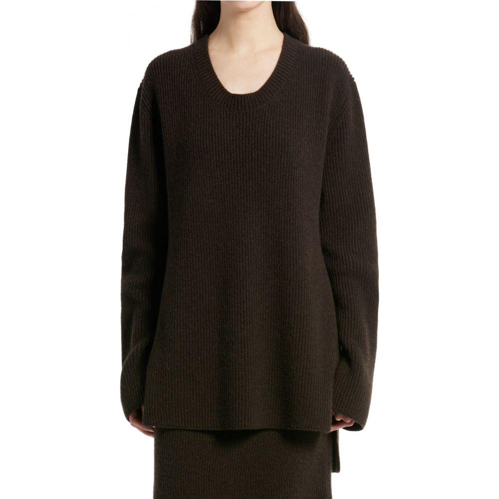ザ ロウ THE ROW レディース ニット・セーター トップス【Camela Oversize Cotton Sweater】Smokey Brown