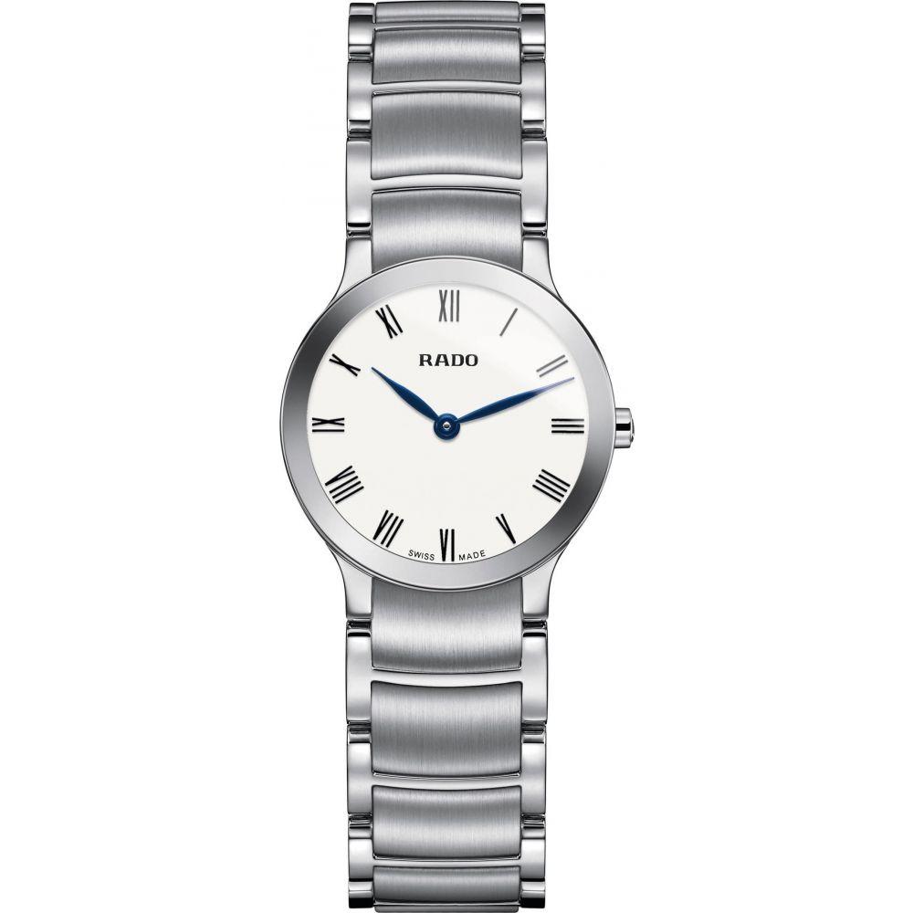 ラドー RADO レディース 腕時計 【Centrix Bracelet Watch, 23mm】Silver/White/Silver