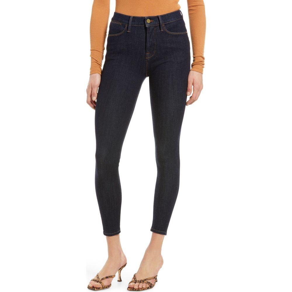 フレーム レディース ボトムス パンツ ジーンズ ハイクオリティ デニム Rinse サイズ交換無料 Crop High Jeans 24-Hour FRAME 売り出し Waist Skinny スキニー