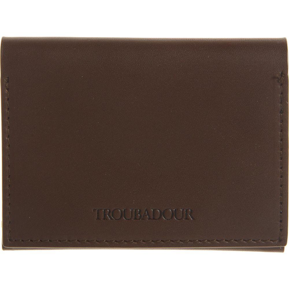 トルバドゥール メンズ 財布 時計 雑貨 カードケース 名刺入れ TROUBADOUR 送料無料でお届けします 再入荷/予約販売! Brown Flip Wallet Card サイズ交換無料