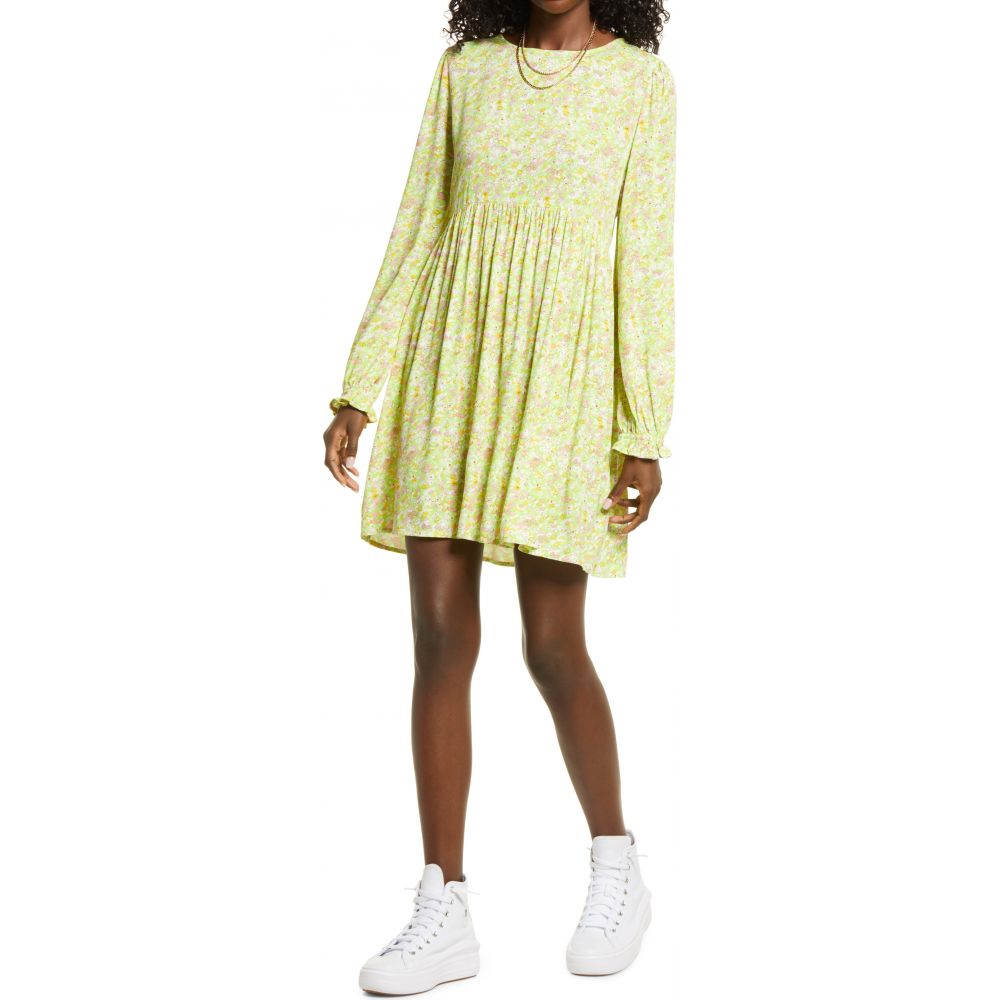 BP レディース ワンピース ドレス Green Hannah Kate 美品 Long Sleeve BP. Dress Print 配送員設置送料無料 サイズ交換無料