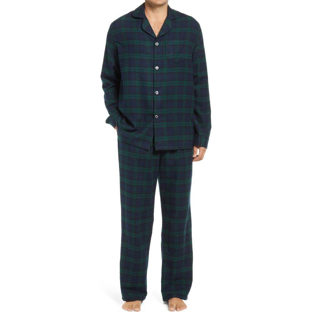 エルエルビーン メンズ インナー 下着 商品追加値下げ在庫復活 パジャマ 上下セット Pajamas Plaid Black Scotch L.L.BEAN Watch 着後レビューで 送料無料