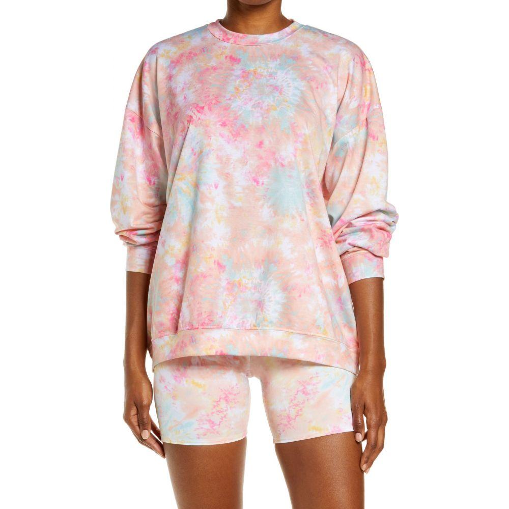 オンジー レディース トップス スウェット トレーナー Rose オンライン限定商品 All Sweatshirt ONZIE Day Tie Dye Boyfriend サイズ交換無料 流行のアイテム