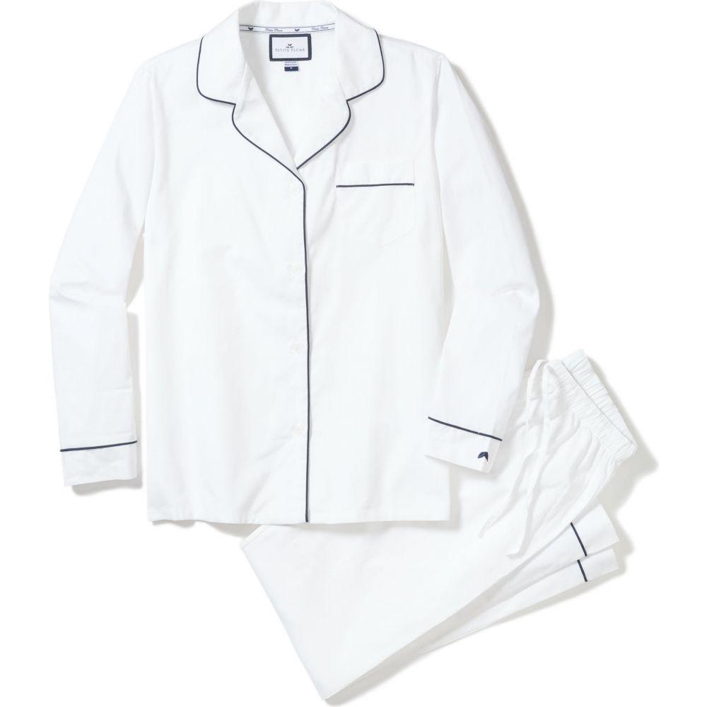 ストア プチプラム メンズ インナー 下着 パジャマ 上下セット Piping Pajamas White Contrast 休み PETITE PLUME