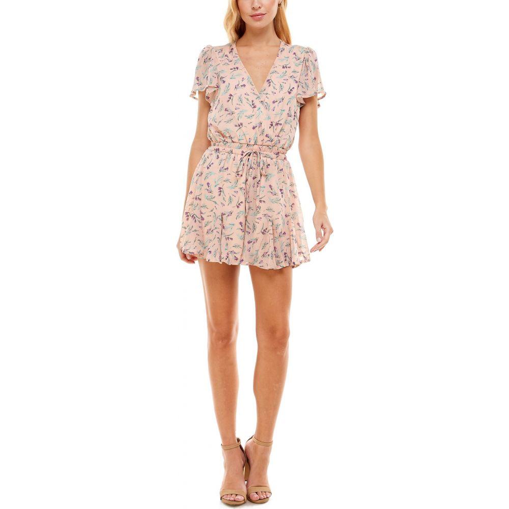 ロー 蔵 A レディース ワンピース ドレス オールインワン Peach Surplice Romper Floral 春の新作 サイズ交換無料 ROW Print