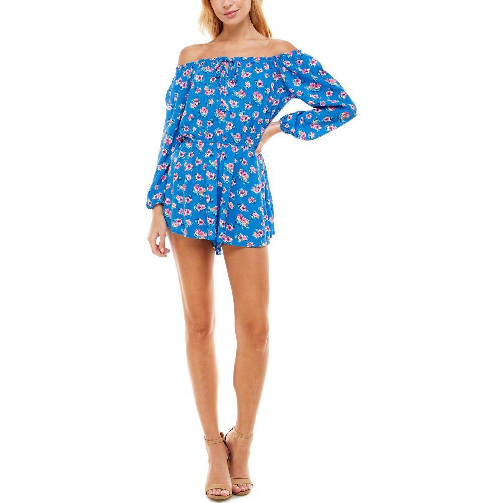 ロー A レディース 2020新作 ワンピース ドレス オールインワン Blue 数量は多 サイズ交換無料 Print Shoulder Romper Off Floral the ROW