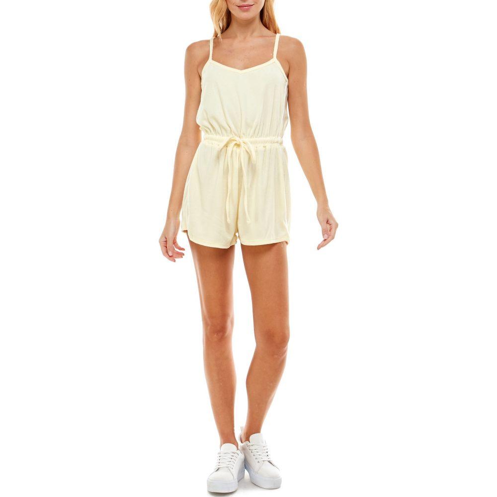 税込 ロー A レディース ワンピース ドレス オールインワン 最新 Cloth Terry Yellow サイズ交換無料 Romper ROW