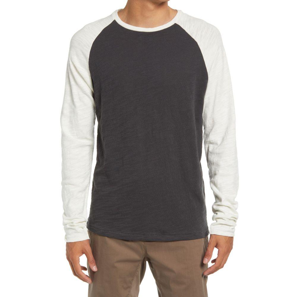ラグボーン メンズ トップス 長袖Tシャツ Dgreycombo 【サイズ交換無料】 ラグボーン RAG  BONE メンズ 長袖Tシャツ ラグラン トップス【Classic Raglan Flame Long Sleeve T-Shirt】Dgreycombo
