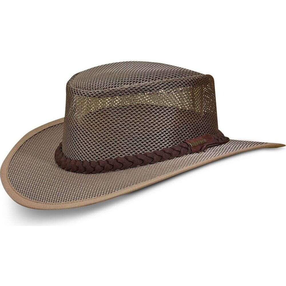ステットソン オンライン限定商品 メンズ 帽子 ハット 最安値挑戦 Mushroom サイズ交換無料 STETSON Hat Mesh サファリハット Safari