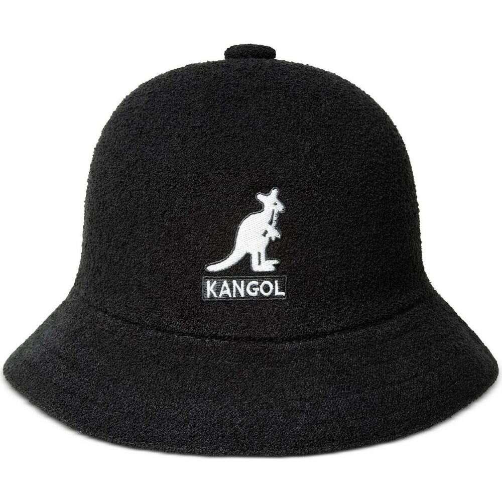 カンゴール メンズ 超特価SALE開催 帽子 ハット Black セール開催中最短即日発送 サイズ交換無料 Kangol Big Casual Bucket バケットハット Hat Logo